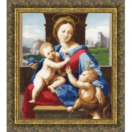 Набор для вышивки крестом - Золотое руно - МК-032 Мадонна Альдобрандини