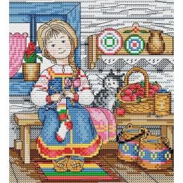 Набор для вышивки крестом - МП Студия - Русская красавица М-042