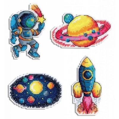 Набор для вышивки крестом - МП Студия - Космос. Магниты Р-576