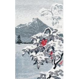 Набор для вышивки крестом Овен 1398 Зимний пейзаж с рябиной