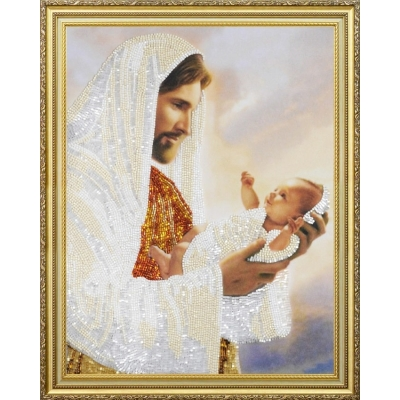 Набор для вышивки бисером - Картины бисером - Иисус с младенцем