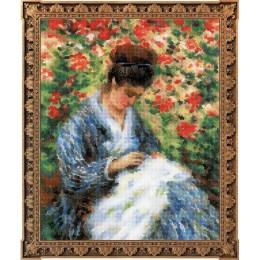 Мадам Моне за вышивкой - РИОЛИС - набор для вышивки крестом
