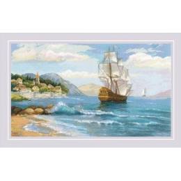 Набор для вышивки крестом - РИОЛИС - 1900 К далёким берегам