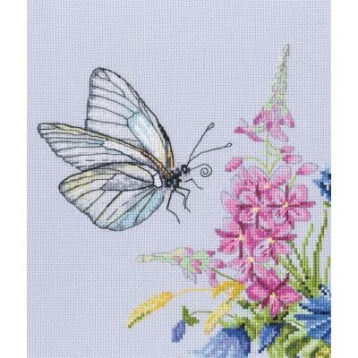 Набор для вышивки крестом - RTO - Бабочка капустница М759