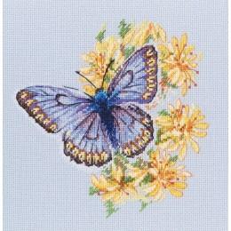 Набор для вышивки крестом - RTO - Бабочка на цветке М750