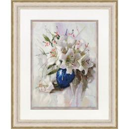 Белые лилии - Золотое руно - набор вышивки крестом