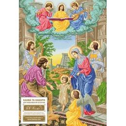 Набор для вышивка бисером икон - БС Солес - Святая Семья с ангелами