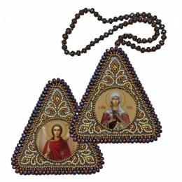 Двусторонняя икона Св. Мц. Татиана и Ангел Хранитель - Нова Слобода - вышивка бисером иконы