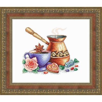 Кофе по-восточному - Русский фаворит - набор для вышивки крестом