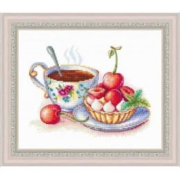 Набор для вышивки крестом - Русский фаворит - Летний десерт с черешней