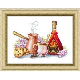 Набор для вышивки крестом - Русский фаворит - Кофе со вкусом Амаретто