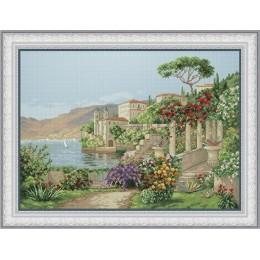 Вид на озеро - OLanTA - набор для вышивки крестом