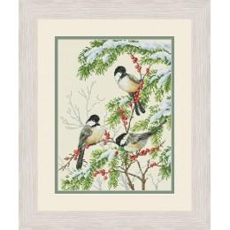 Зимние птицы - OLanTA - набор вышивки крестом