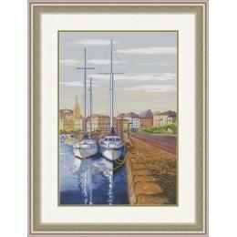 Набор для вышивки крестом - OLanTA - VN-175 Девушка и цветы