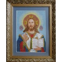 """Венчальная Пара """"Иисус Пантократор"""" (маленькая) - БС Солес - набор для вышивки бисером икон"""