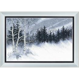 Набор для вышивки крестом - Crystal Art - Зимняя ночь
