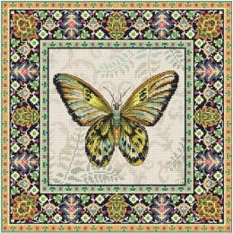 Набор для вышивки крестом - LETISTITCH - LETI 981 Винтажная Бабочка