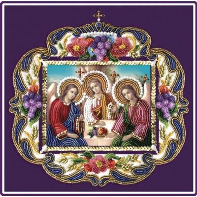 Икона СВЯТАЯ ТРОИЦА - Изящное рукоделие - вышивка бисером икон