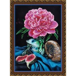 Натюрморт с пионом - Картины бисером - набор для вышивки бисером