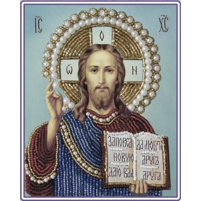 Вышивка бисером икон - Изящное рукоделие - Икона ИИСУС ХРИСТОС