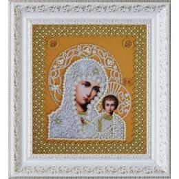 Вышивка бисером икон - Картины бисером - Икона Казанской Божией Матери (Венчальная пара (золото)) Р-206