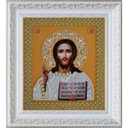 Вышивка бисером икон - Картины бисером - Икона Христа Спасителя (Венчальная пара (золото)) Р-207