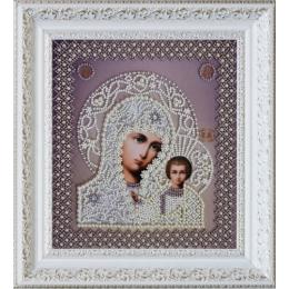Вышивка бисером икон - Картины бисером - Икона Казанской Божией Матери. Венчальная пара Р-208