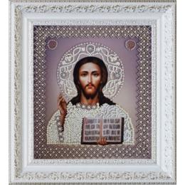 Вышивка бисером икон - Картины бисером - Икона Христа Спасителя. Венчальная пара Р-209