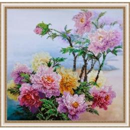 Китайские пионы - Картины бисером - набор для вышивки бисером