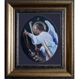 Вышивка бисером икон - Изящное рукоделие - Икона Ангел молитвы