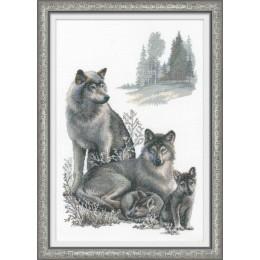 Набор для вышивки крестом - РИОЛИС - Волки