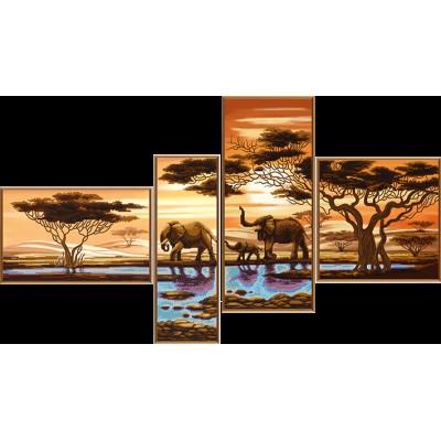 Африканские слоны - Нова Слобода - схема вышивки бисером