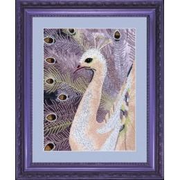 Набор для вышивки бисером - Butterfly - №507 Белый павлин