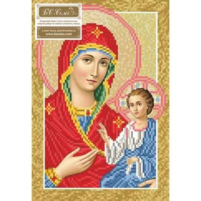 Схема вышивки бисером - БС Солес - Богородица Одигитрия