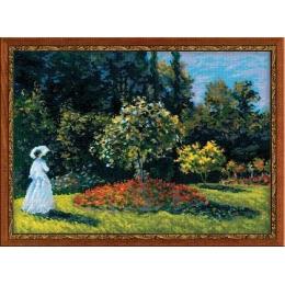 """""""Дама в саду"""" по мотивам картины К.Моне - РИОЛИС - набор для вышивки крестом"""