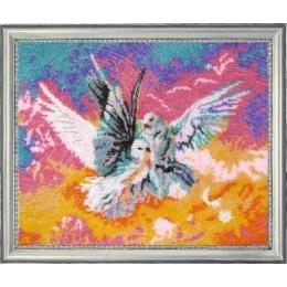 Набор для вышивки бисером - Butterfly - Голубки №522