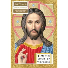 Иисус Пантократор - БС Солес - схема вышивки бисером