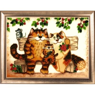 Семейство кошачьих - Butterfly - набор для вышивки бисером, купить Наборы для вышивания бисером в Украине, цена на Наборы для вышивания бисером в интернет магазине Вышивка Shop