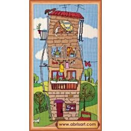 Летний домик - Абрис Арт - набор вышивки крестом