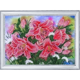 Набор для вышивки бисером - Butterfly - №228 Сияющие лилии