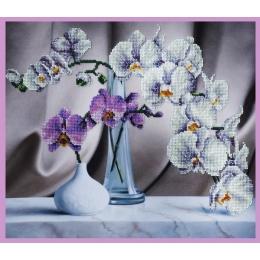Набор для вышивки бисером - Картины бисером - Р-243 Натюрморт с орхидеями