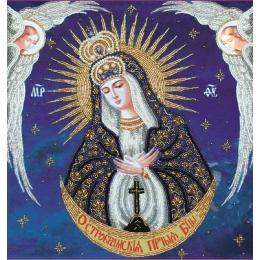 Икона Богородица Остробрамская с ангелами - Изящное рукоделие - вышивка бисером икон