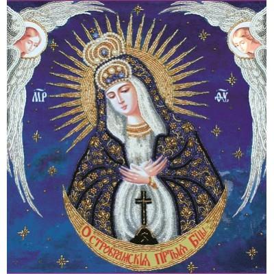 Вышивка бисером икон - Изящное рукоделие - Икона Богородица Остробрамская с ангелами