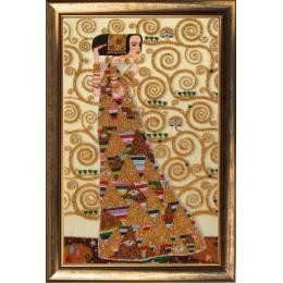 Набор для вышивки бисером - Butterfly - Ожидание (по мотивам Г. Климта) №338