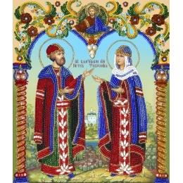 Икона Святые ПЕТР И ФЕВРОНИЯ - Изящное рукоделие - вышивка бисером икон