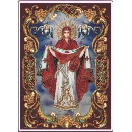 Икона ПОКРОВА ПРЕСВЯТОЙ БОГОРОДИЦЫ (в рамке) - Изящное рукоделие - вышивка бисером икон