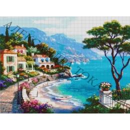Авторский набор для вышивки бисером - Токарева А. - Прогулка у моря 52-3072-НП