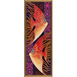 Набор для вышивки бисером - Нова Слобода - ДК6047 Пара рыб