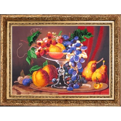 Набор для вышивки бисером - Butterfly - Натюрморт с персиками