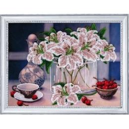Набор для вышивки бисером - Butterfly - №245 Натюрморт с вишнями